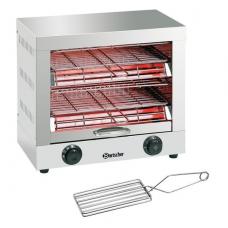 Quartz tube toaster, double