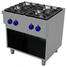 Gas cooking range4 burners - Open stand, Primax Chef serie Safari MG0665