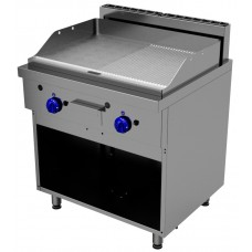 Fry top 1 modul - 1/2 smooth 1/2 grooved plate, Primax Chef serie Safari MG0672