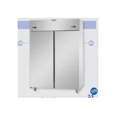 2 doors double temperature (NT + LT) Stainless Steel GN 2/1 Refrigerated Cabinet ,Tecnodom AF14EKOPN