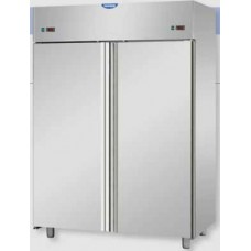 2 doors double temperature (NT + NT) Stainless Steel GN 2/1 Refrigerated Cabinet  ,TecnodomAF14MIDPP