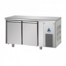 2 doors Low Temperature Stainless Steel GN 1/1 Refrigerated Counter , Tecnodom TF02MIDBT