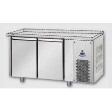2 doors Low Temperature Stainless Steel GN 1/1 Refrigerated Counter without working top, Tecnodom TF02MIDBTSP