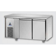 2 doors Low Temperature Stainless Steel GN 1/1 Refrigerated Counter with unit on the left side, Tecnodom TF02MIDBTSX