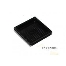 Big Tray square,100 Single Portions Tray – Square 67 x 67 mm, 52.006.20.0002, Silikomart