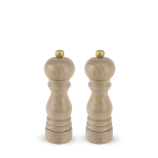 Duo of u'Select manual salt and pepper mills in natural wood, 18 cm, 23386 Duo, Paris, Peugeot