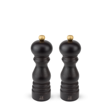 Duo of u'Select manual salt and pepper mills, from wood, chocolate colour, 18 cm, 23461, Duo, Paris, Peugeot