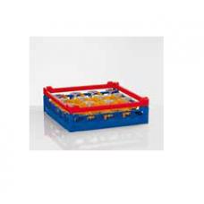 Plastic blue wash rack for 16 glasses, size L, 85 000 739, Winterhalter