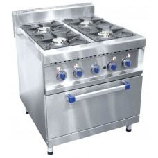 Gas plate ABAT ПГК-49ЖШ four-burner with frying cupboard (series 900)