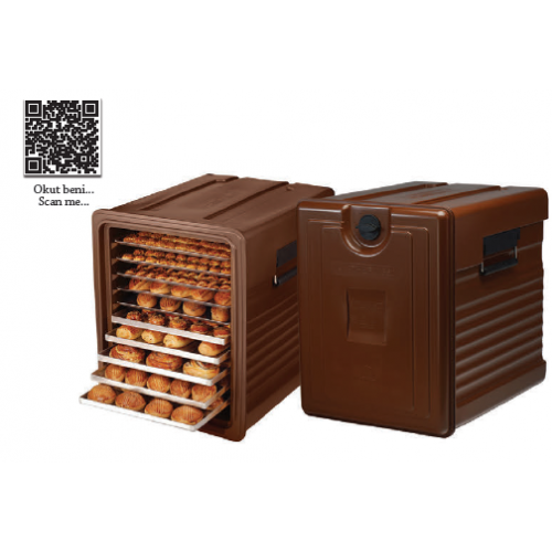 Bakery thermobox, chocolate colour, 100256, 660 AVATHERM