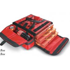 Pizza bag with beverage slot, red, 100380, AV 18, AVATHERM