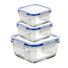 Set Square food containers, Superblock Q 3Pz (11-14-17), SO6, 14070220, Borgonovo