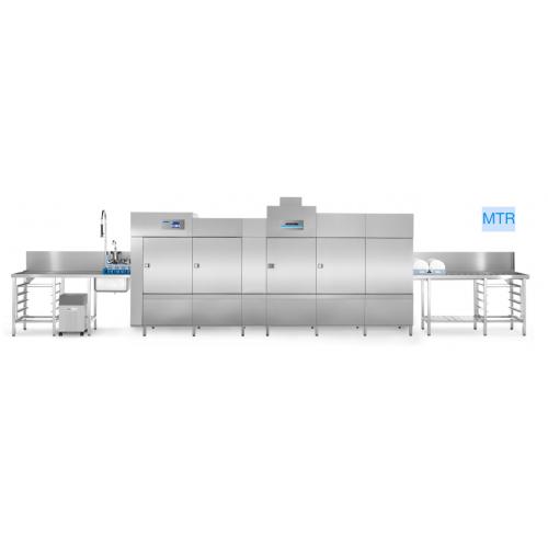 Conveyor tunnel dishwasher, multi-tank, for wash racks, MT series, lenght 3850 mm, MTR 4-350 LLLM, Winterhalter