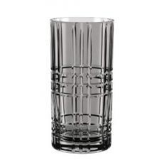 Set of 12  Glasses SQUARE SMOKE for Longdrink, HIGHLAND, 101456, Nachtmann