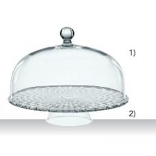 Footed cake plate 32 cm with Dome 30 cm,  BOSSA NOVA, 99528, Nachtmann
