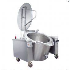 Electrical Cylindrical Tilting Boiling Pan 200 lt Indirect Heat, OKTEID 200, Ozti, 7855.200LE.02