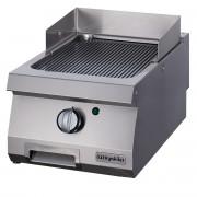 Half Module Smooth Electric Grill, chrome plated, OGE 4070 N C, series 700, Ozti, 7864.N1.40703.01C
