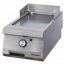 Half Module Smooth Electric Grill, chrome plated, OGE 4070 C, series 700, Ozti, 7864.N1.40703.04C