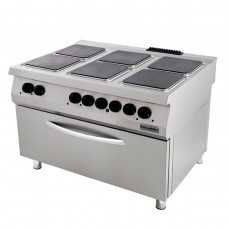 6 Electric Hot Plates Range On Electric Large Oven, 900 serie, OSOEF 12090 S, Ozti, 7865.N1.12908.51