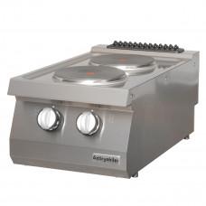 Electric Boiling top, with 2 burners, , OSOE 4070, series 700, Ozti, 7865.N1.40703.12