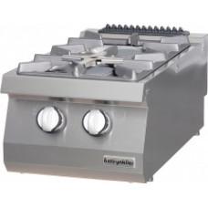 Gas Boiling top, with 2 burners, OSOG 4070 LP, series 700, Ozti, 7865.N1.40703.33LP