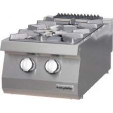 Gas Boiling top, with 2 burners, OSOG 4070 LS, series 700, Ozti, 7865.N1.40703.33LS