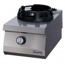 Gas cooking top, 1 open WOK burner, OWG 4070, series 700, Ozti, 7865.N1.40703.WK