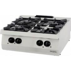 Gas Boiling top, with 4 burners, OSOG 8070 LP, series 700, Ozti, 7865.N1.80703.35LP