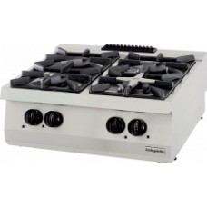 Gas Boiling top, with 4 burners, OSOG 8070 LS, series 700, Ozti, 7865.N1.80703.35LS