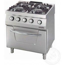 Gas Range, electrical oven OSOGEF 8070 LS, series 700, Ozti, 7865.N1.80708.10ELS