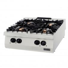 Full Module Gas Boiling Top, 4 Open Burners, 900 Serie, OSOG 8090 P, Ozti,7865.N1.80903.20P