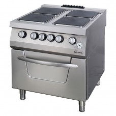 4 Electric Hot Plates Range On Electric Oven, 900 serie,  OSOEF 8090, Ozti, 7865.N1.80908.11
