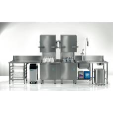 Dome base Dishwasher, PT-500 TwinSet (combination of 2 dishwashers), Winterhalter
