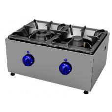 Gas cookers top 2 burners, transversal Primax Chef serie Safari MG0601