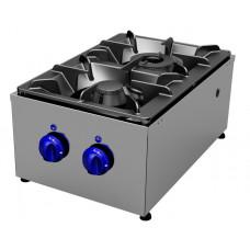 Gas cookers top 2 burners, longitudinal Primax Chef serie Safari MG0602