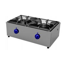 Gas cookers top 2 burners, transversal Primax Chef serie Safari MG0603