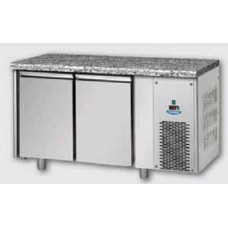 2 doors Low Temperature Stainless Steel GN 1/1 Refrigerated Counter with Granite working top , Tecnodom TF02MIDBTGRA