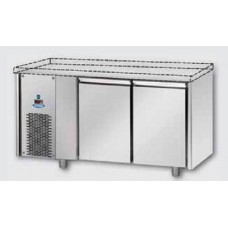 2 doors Low Temperature Stainless Steel GN 1/1 Refrigerated Counter without working top, with unit on the left side, Tecnodom TF02MIDBTSPSX