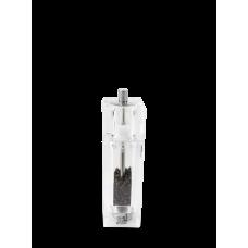 Combination manual pepper mill and salt cellar, acrylic, 15 cm, 860501, Pontarlier, Peugeot