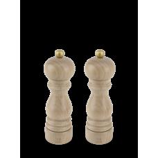 Duo of u'Select manual salt and pepper mills in natural wood, 18 cm, 23386 Duo, Paris, Peugeot