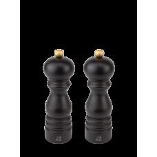 Duo of u'Select manual salt and pepper mills, from wood, chocolate colour, 18 cm, 23461, Duo, Paris, Peugeot