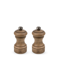 Duo of manual salt and pepper mills, beech wood with an antiqued finish, 10 cm; 30933, Bistro Antique, Peugeot