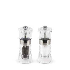 Duo of manual salt and pepper mills, acrylic, 14 cm, 34559, Oslo, Peugeot