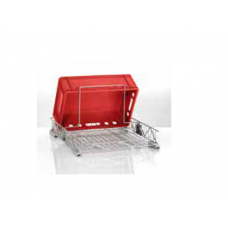 Container with a hinged handle from steel, 65 006 925, Winterhalter