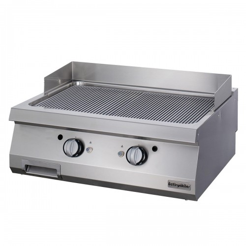 Full Module Ribbed Gas Grill, chrome, OGG 8070 N, series 700, Ozti, 7864.N1.80703.13C
