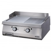 Full Module 1/2 Smooth & 1/2 Ribbed Gas Grill, Carbon Steel, OGG 8070 1/2 N, series 700, Ozti, 7864.N1.80703.16