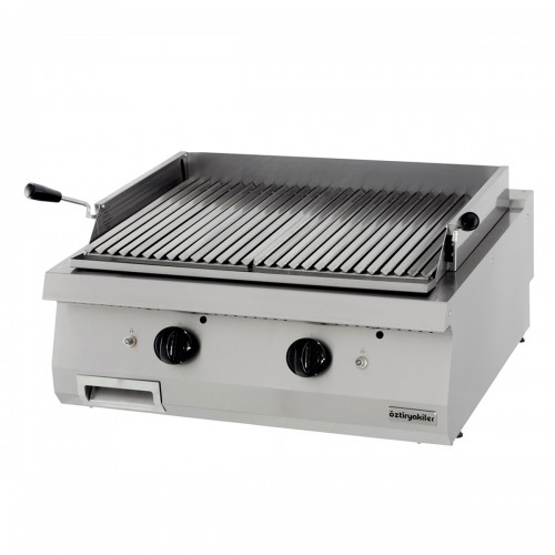 Half Module Ribbed Electric Grill, chrome plated, OLG 8070, series 700, Ozti, 7864.N1.80703.20