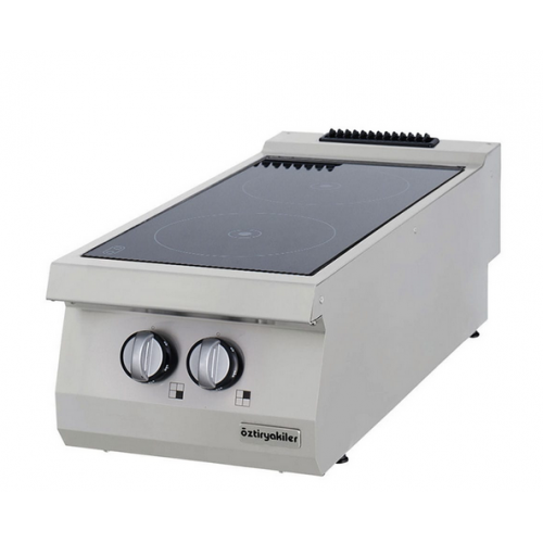 Half Module 2 Infrared Heaters Electric Boiling Top, OSC 4070, series 700, Ozti, 7865.N1.40703.CS