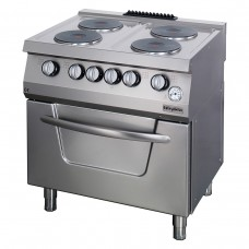 Electric Boiling top, with electric oven, 4 burners,  OSOEF 8070, series 700, Ozti, 7865.N1.80708.02
